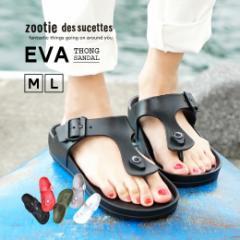 zootie|サンダル レディース ビーチサンダル EVA 海 軽量 スリッポン /EVA トングサンダル