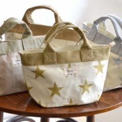 トートバッグ レディース 鞄 撥水加工 サブバッグ ランチバッグ /ポリジュート&キャンバス ミニトートバッグ