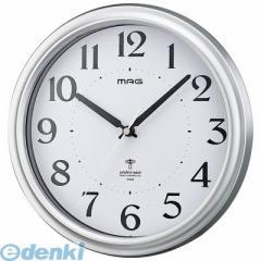 ノア精密 [W-649 SM-Z] 電波掛け時計 アストル 銀メタリック W649SMZ【5400円以上送料無料】