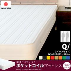 【送料無料】 ポケットコイルマットレス クイーンサイズ(マットレス MATTRESS ポケットコイル スプリング ベッド シンプル やわらかめ
