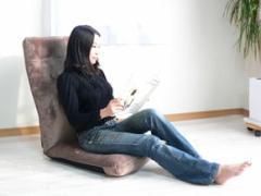腰に優しい 座椅子 布地 日本製 低反発座椅子『ランバーズ』リクライニング座椅子 ハイバック座椅子 座いす 座イス リラックスチェア