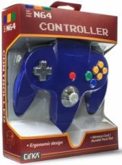 (新品即納)(N64)N64 CONTROLLER(BLUE)(Cirka製)(任天堂64互換コントローラ)(北米版)(ネコポス発送不可)