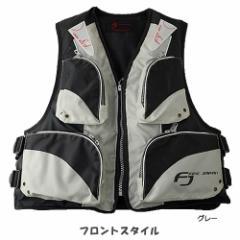 お買得品 ライフジャケット FV-6110 笛付き グレー×ブラック (フローティングベスト 大人用)