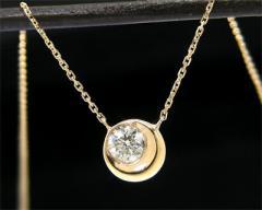 【送料無料】 K10YG ダイヤモンド 月モチーフ ネックレス