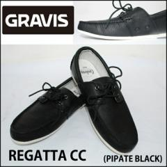 GRAVIS グラビス メンズ シューズ REGATTA CC カラーPIPSTE BLACK レザーシューズ 本革 靴【返品種別SALE】