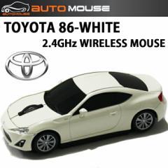 AUTOMOUSE オートマウス TOYOTA86 ホワイト トヨタ86型ワイヤレスマウス 2.4GHz