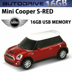 AUTODRIVE オートドライブ16GB MINI COOPER-S RED USBメモリー 外付けストレージ ミニクーパー
