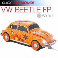 【CLICK CAR MOUSE】フォルクスワーゲン ビートル フラワーパワー VW BEETLE  USBケーブル接続 光学式マウス