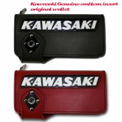 【即納】【Kemeko Moto Locomotion】KAWASAKI純正タンクエンブレムインサート ライダースウォレットカワサキ