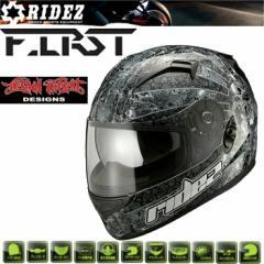 【送料無料】RIDEZ HELMET FIRST ユナイテッドローズ ブラック フルフェイスヘルメット ファーストSG規格 バイク用ヘルメット