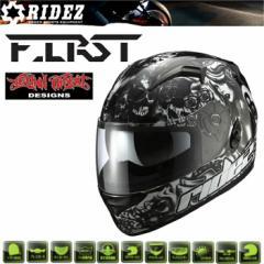 【送料無料】RIDEZ HELMET FIRST グリードシティ BLACK フルフェイスヘルメット ファースト SG規格 バイク用ヘルメット