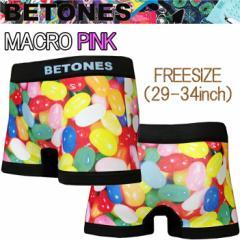 BETONES ビトーンズ MACRO MC001 ピンク フリーサイズ ボクサーパンツ アンダーウエア