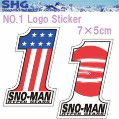 【ゆうパケット対応】SNOMAN SHG スノーマン NO.1ロゴステッカー 7×5cm SM-2P