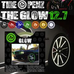 【送料無料】【TIRE PENZ】THE GLOW グロウ 12.7mm×9M リフレクトラインテープ 塗装保護接着剤 リムステッカー ホイール タイヤペンズ