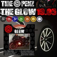 【送料無料】【TIRE PENZ】THE GLOW グロウ 19.05mm×9M リフレクトラインテープ 塗装保護接着剤 リムステッカー ホイール タイヤペンズ
