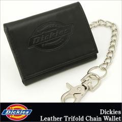 Dickies ディッキーズ 財布 メンズ 三つ折り 小銭入れなし 革 レザー 本革 チェーン ウォレット USAモデル (31d1101)