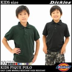 【BOYS/KIDS】 Dickies ディッキーズ 子供服 ポロシャツ 半袖 男の子 女の子 アメカジ ヒップホップ ボーイズ キッズ (ks4552)