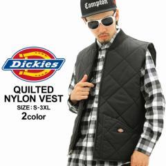 Dickies ディッキーズ ベスト メンズ 大きいサイズ ナイロン キルティング ベスト アメカジ (TE242)