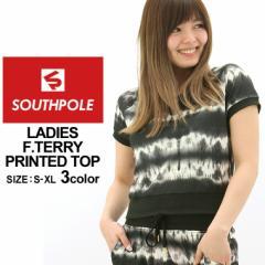 SOUTH POLE サウスポール Tシャツ 半袖 スウェット レディース 大きいサイズ ダンス ヒップホップ 衣装 派手 柄 プリント