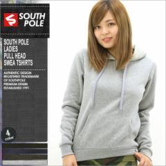 SOUTH POLE サウスポール パーカー レディース プルオーバー スウェット 無地 黒 ブラック 大きいサイズ (southpole-9003-1551)