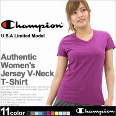 【レディース】 Champion チャンピオン Tシャツ レディース Vネック 半袖Tシャツ ルームウェア 大きいサイズ (8875)