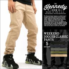 【送料無料】 KENNEDY DENIM ケネディデニム ジョガーパンツ メンズ 大きいサイズ ブラック カーキ 無地 アメカジ ストリート