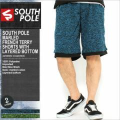SOUTH POLE (サウスポール) ハーフパンツ メンズ スウェット 大きいサイズ スウェットパンツ ハーフ ショートパンツ 夏