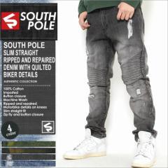 SOUTH POLE サウスポール ジーンズ メンズ ストレート バイカー デニム バイカーパンツ ダメージ ジーンズ ジーンズ メンズ