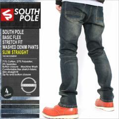SOUTH POLE サウスポール ジーンズ メンズ ストレート デニム メンズ デニムパンツ 大きいサイズ ジーンズ メンズ ブラック