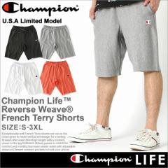 チャンピオン (Champion) ハーフパンツ メンズ スウェット ショートパンツ メンズ 大きいサイズ リバースウィーブ