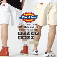 Dickies ディッキーズ ハーフパンツ メンズ ペインターパンツ 白 ホワイト デニム ジーンズ アメカジ 大きいサイズ (dx400)