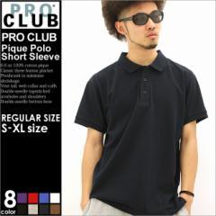 ポロシャツ,大きいサイズ,メンズ,半袖,無地,鹿の子,アメカジ,プロクラブ,PRO CLUB