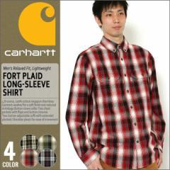 カーハート carhartt ボタンダウンシャツ メンズ 長袖 チェックシャツ メンズ シャツ 長袖 ボタンダウン 大きいサイズ メンズ シャツ