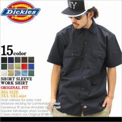 【BIGサイズ】 Dickies ディッキーズ シャツ 半袖 メンズ 大きいサイズ ワークシャツ アメカジ ストリート (dickies 1574)
