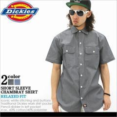 Dickies ディッキーズ シャンブレーシャツ 半袖 メンズ 大きいサイズ 半袖シャツ シャツ アメカジ