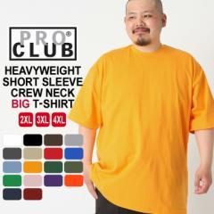 PRO CLUB プロクラブ Tシャツ 半袖 メンズ 半袖tシャツ 無地 大きいサイズ メンズ tシャツ