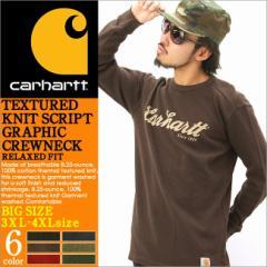 [BIGサイズ] [3XL-4XL] Carhartt カーハート ロンt メンズ サーマル tシャツ 長袖 b系 ストリート 大きいサイズ