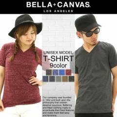 BELLA + CANVAS LOS ANGELES ベラキャンバス ロサンゼルス L.A. LA Tシャツ メンズ 半袖 vネック 大きいサイズ 無地 半袖tシャツ