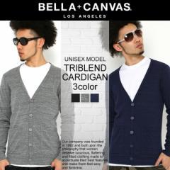 BELLA + CANVAS LOS ANGELES ベラキャンバス ロサンゼルス L.A. LA カーディガン 長袖 無地 メンズ レディース