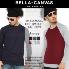 BELLA + CANVAS LOS ANGELES ベラキャンバス ロサンゼルス L.A. LA ロンt 長袖 tシャツ Uネック ビスコース メンズ レディース