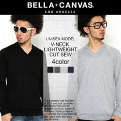 BELLA + CANVAS LOS ANGELES ベラキャンバス ロサンゼルス L.A. LA ロンt 長袖 tシャツ Vネック ビスコース メンズ レディース