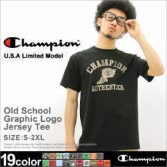Champion チャンピオン Tシャツ メンズ 半袖 大きいサイズ 半袖tシャツ プリント ロゴ アメカジ カレッジ スクルー