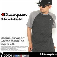Champion チャンピオン tシャツ メンズ 半袖 大きいサイズ 無地 ラグランtシャツ ラグランスリーブ アメカジ ブランド