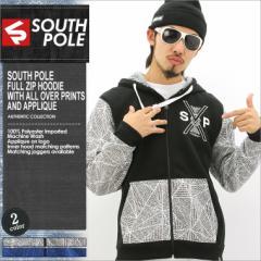 SOUTH POLE サウスポール パーカー メンズ ジップアップ 大きいサイズ スウェット ストリート