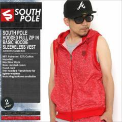 【2枚で送料無料】 SOUTH POLE サウスポール ベスト パーカー メンズ スウェット 大きいサイズ ジップアップ 半袖