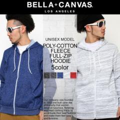BELLA + CANVAS LOS ANGELES ベラキャンバス ロサンゼルス L.A. LA パーカー 無地 裏起毛 ジップアップパーカー メンズ レディース