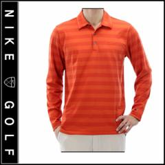【Nike Golf】DRI-FIT ナイキゴルフ TIGER WOODS COLLECTION ロングスリーブ ボーダーポロシャツ