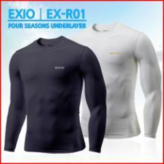 EXIO エクシオ 接触冷感コンプレッションウェア ラウンドネック長袖