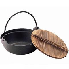 【送料無料】池永鉄工 鉄の器 IH対応 卓上鍋 S鉄鍋 木蓋付 30cm