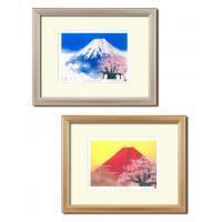 【送料無料】吉岡浩太郎「吉祝」版画額(大衣) 1459340・桜赤富士
